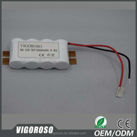 NICD battery rechargeable 4.8V AA 1000mAh