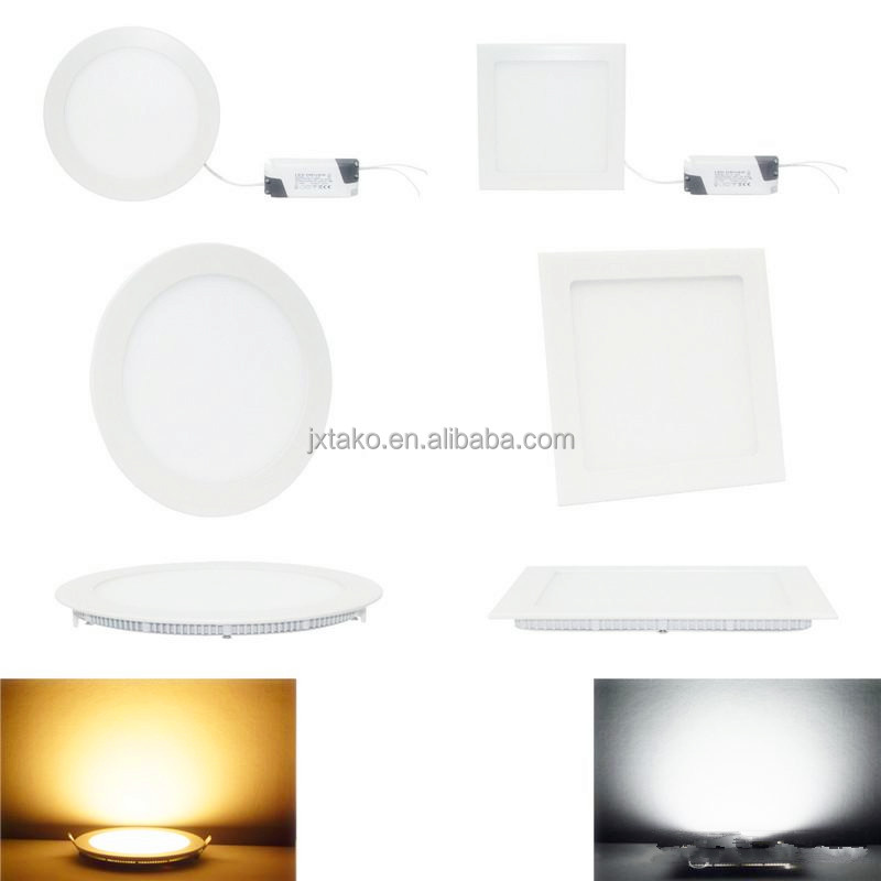 OEM ODM Super Slim led panel light 15W 24W 18W 12W 9W TUV BIS approved round LED ceiling panel light