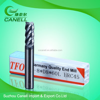 factory direct sales CNC lathe turning tools D8-60mm-HRC45 tungsten solid carbide flat end mill tools