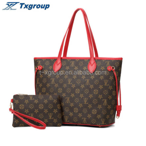 alibaba online shopping fashion brand design <strong>handbag</strong> for women big Shopping bag shoulder bag set TX-TB85025