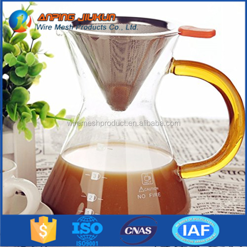 Hot selling metal single cup coffee maker & brewer coffee filter with cup stand
