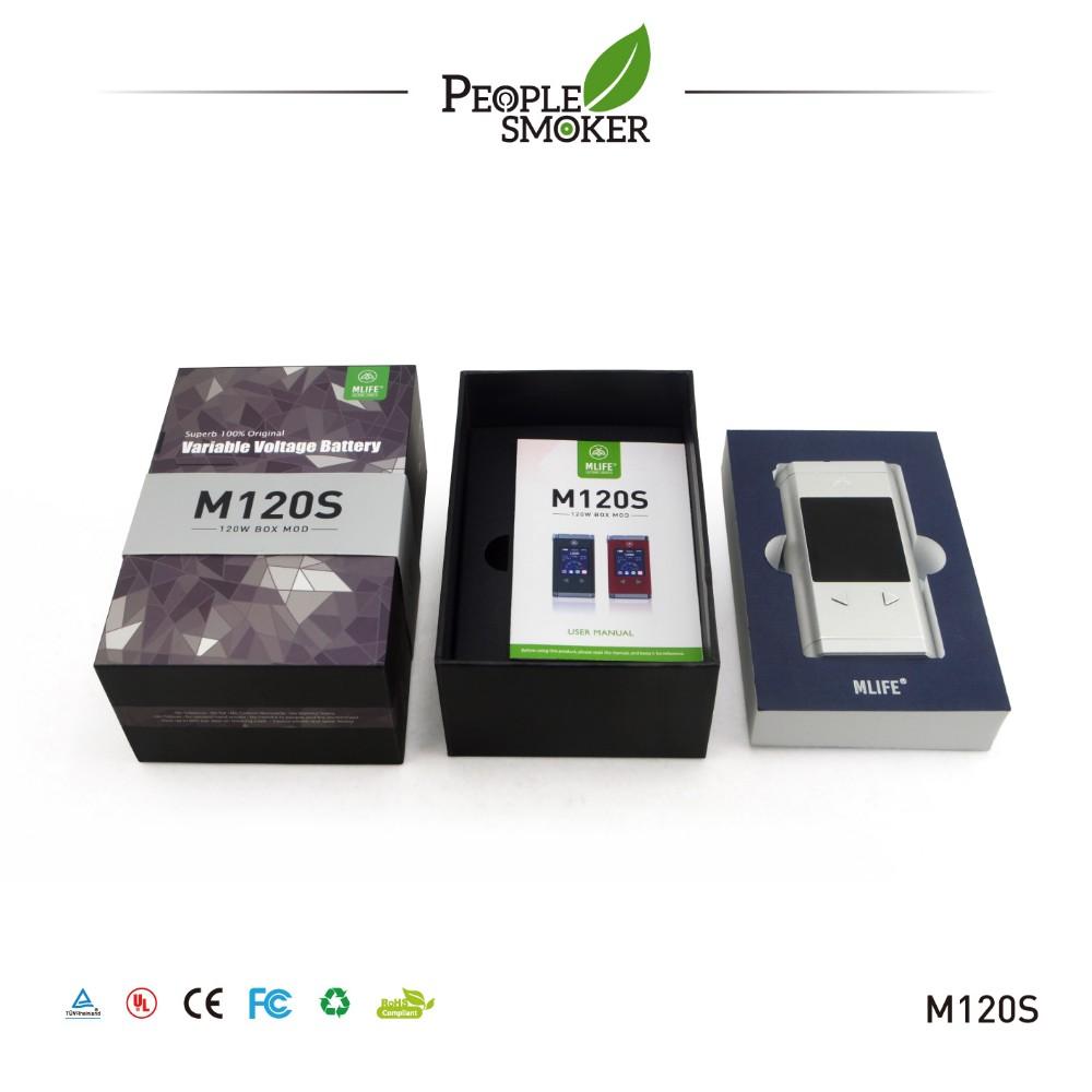 120 w novos mods ecig mod ecig 2016 mod caixa de controle de temperatura 0.2-3.0 ohm níquel 200 atomizador