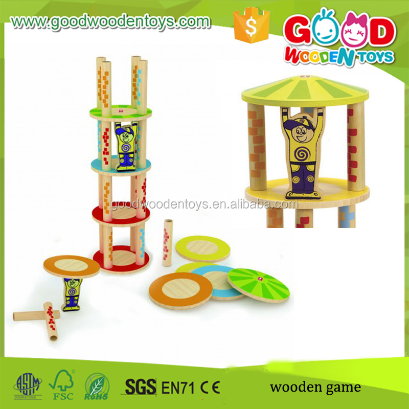 Newest Design Kids Balance Tower Game Wood Building Block Wooden Toy Plans