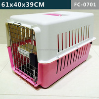PLASTIC PET CAT DOG PUPPY PET CARRIER TRANSPORT TRAVEL KENNEL CAGE CRATE