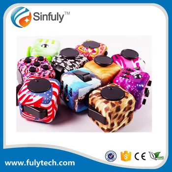 Newest Customize Focus Tool Painting Desk Toy Color Fidget Cube