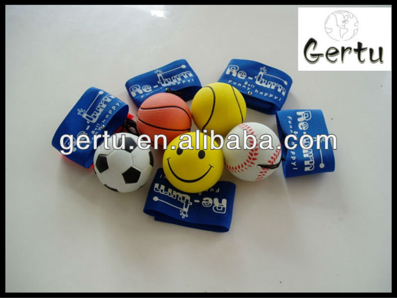 2015 Cute Solid wrist rubber return balls