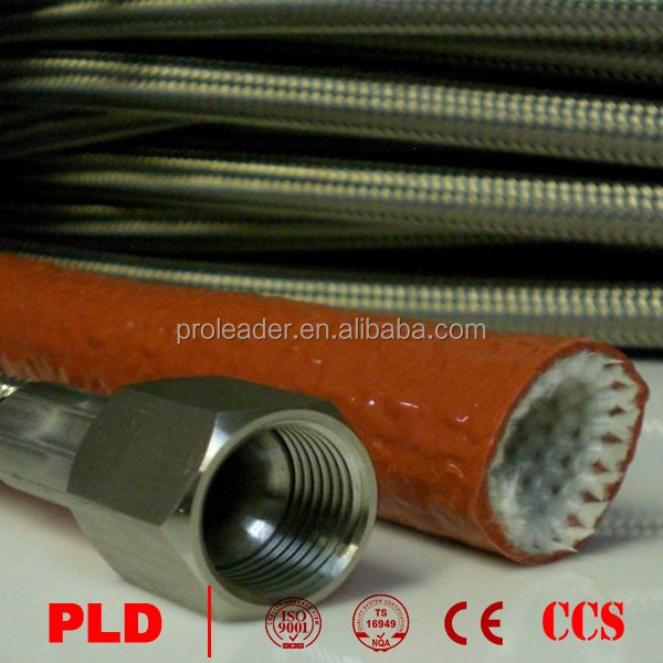 Factory Price Coffeemaker SAE R14 Hose Corrugated Braided Virgin Teflon PTFE PVC Tube