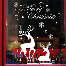 Latest Elk Design Removable PVC Clings Christmas Glass Window Sticker for Christmas Decoration
