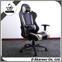 E-Skarner Cheap Beige Racing Spirit Freedom Design Racing Gaming Chair