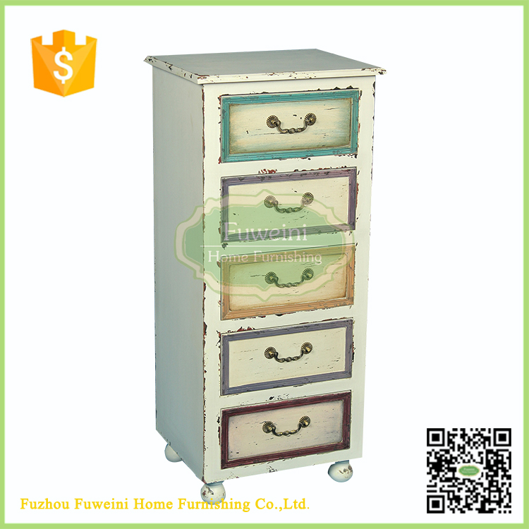 Vintage Shabby French Chic Furniture Wood Storage Cabinet