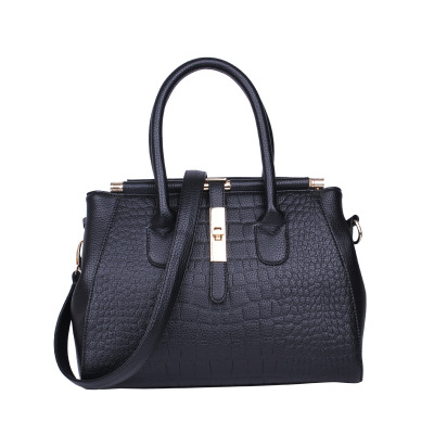 <strong>Manufacturers</strong> Wholesale New Pu Crocodile Pattern Handbag Stereotypes Women's Shoulder Bag