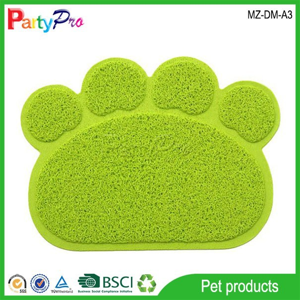 2015 Pet Products Supply PVC Non-slip Mat Pet Dog Cat Paw Cleaning Mat Dog Cat Cushion