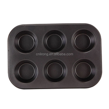 Carbon Steel Non-stick 6 Cup Cake Pan Muffin Baking Pan