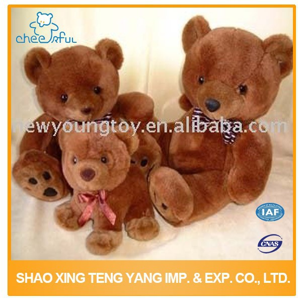 High quality Eco-friendly Soft touch red teddy bear plush toy