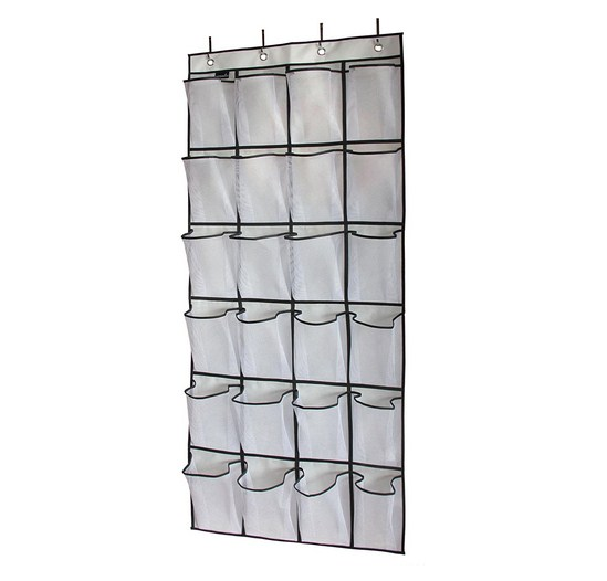 24 Pockets Crystal Clear Over the Door shoe closet organizers clear shoe organizer hanging door hanging shoe organizer