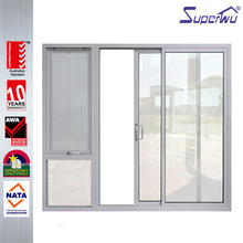 aluminium frame air infiltration sliding fly screen door for house