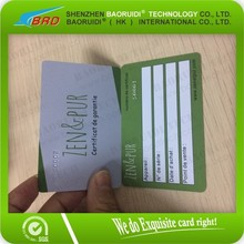 Bank mastercard credit card size plastic card with embossed number