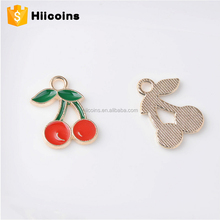 Iron material cherry metal soft enamel keychain parts