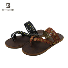 New style TPR and PU sole comfortable ladies flat slippers sandals for women and girls
