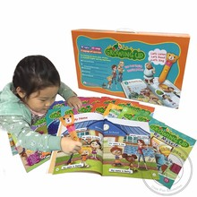 Children English Reading Books Growing Up with Reading Pen for Primary School Kids Studying Talking English Fluently