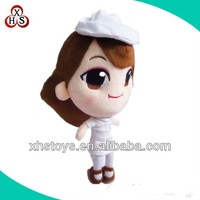 2015 newest plush cartoon toys sexy nurse doll for girl