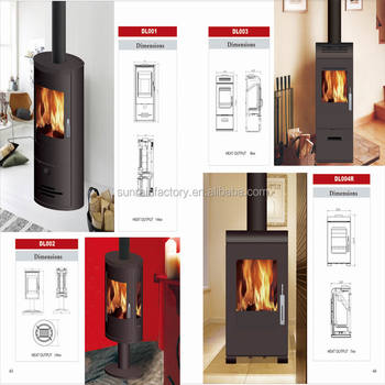 popular steel plate wood burning stove(DL003)