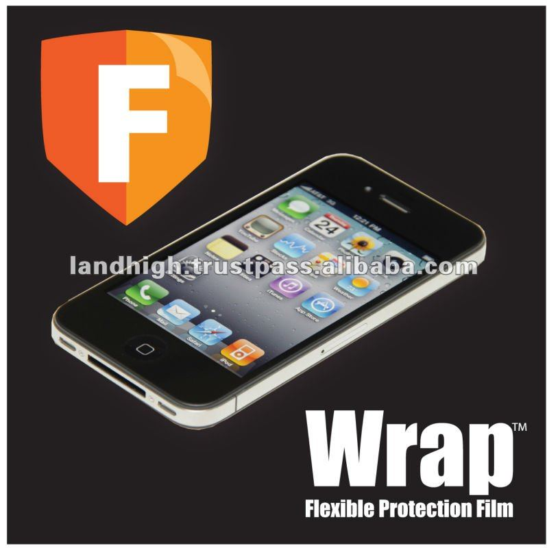 TPU Screen Protector for iPhone 4S, TPU Protective Film for iPhone 4S