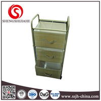 3 drawer bamboo clothes organizer with holder