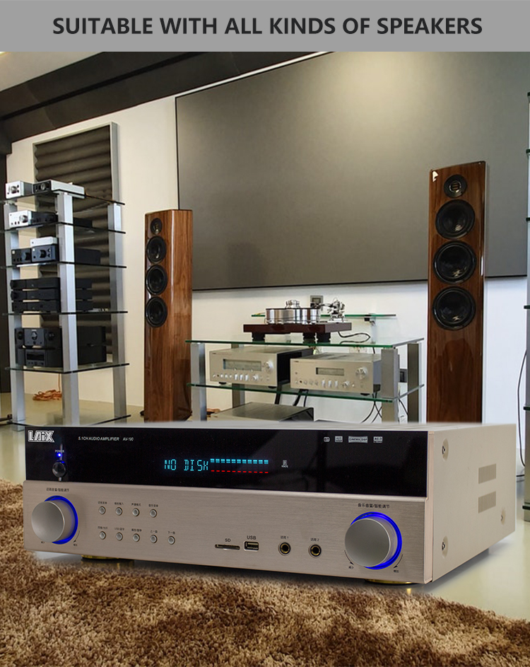 Laix Av-190 5.1 Amplifier Hifi Tube Power Channel Audio Stereo Home Theatre Mini Kit Theater Optical Amp Sonido System Price Av