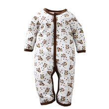 YF7263 new style baby climb clothes cotton long sleeve fastener baby garments