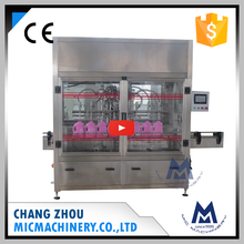 Micmachinery high filling precision MIC-ZF6 6 nozzles automatic baby shampoo bottle filling machine for cosmetic