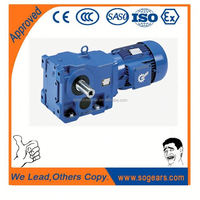 SEW style's right angle helical bevel 1 hp gear motor speed reducer