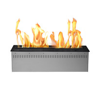 inno fire 24 inch intelligent stainless steel electric automatic smart ethanol fireplace ceramic fibre