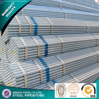 Construction Material Gi Steel Pipe With Threaded And Plain Head