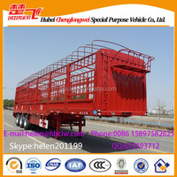 Chufei 40T 3alxes Fence Semi Trailers Car Carrier trailers