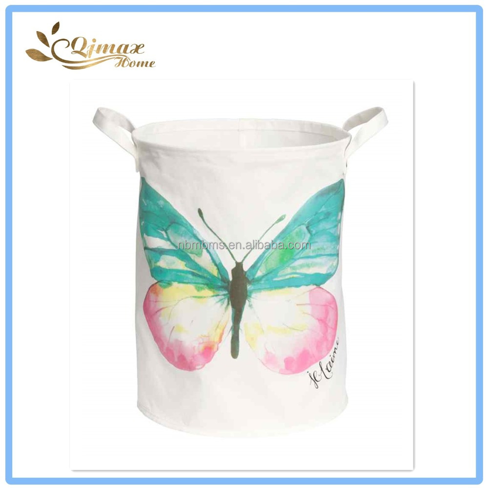 Kids Room Butterfly Printing Cute Laundry Bag