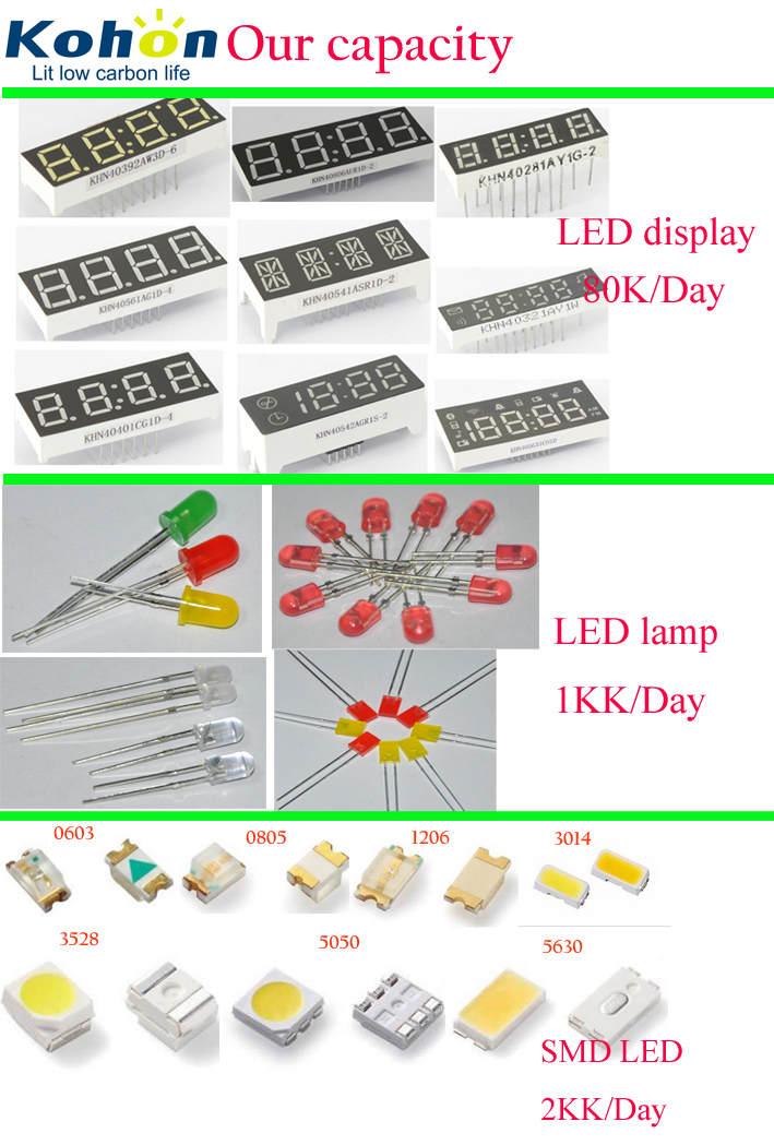 Ultra brightness Long using life Good quality ROHS Approved 18:88 segment display Bi-color 7 segment LED display