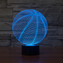 FS-2931 3D Desk Lamp Basketball Round Shape Gift Acrylic Night light LED lighting Furniture Decorative colorful 7 color change h