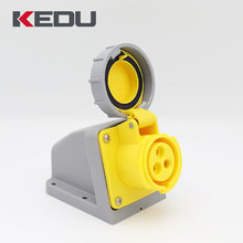 KEDU IP67 16A 4h 110V 3 pin Industrial Wall Mounted Socket Outlet