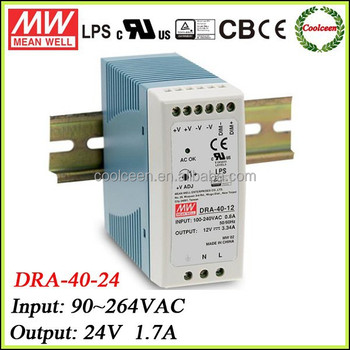 Meanwell smps power supply DRA-40-24, View DRA-40-24, Meanwell ...