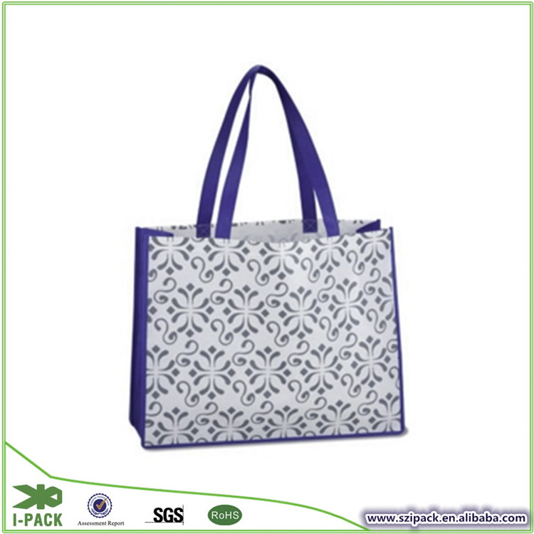 Colorful recycle PP laminated shopping non woven bag