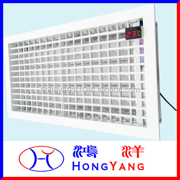 Linkage Motorized Linear Bar Grille for Fan Coil