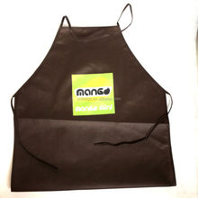 Hot sell custom logo printing kitchen cooking non woven apron for promotions