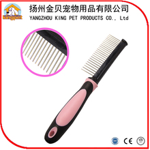 High quality China factory wholesale pink color handle pet hair comb dog hair blade comb