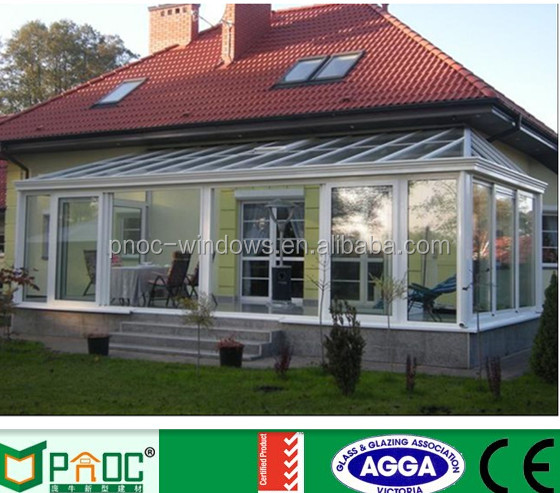 Aluminium Conservatory Sound Insulation Glass Sunroom For