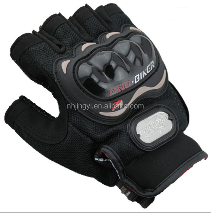 hot sale cheap motorcycle sport leather fingerless probiker gloves