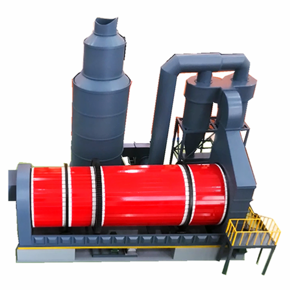 3-cylinder sludge dryer for copper sludge, oil sludge treatment