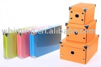 home toy doll file decorative cardboard foldable storage box wholesale