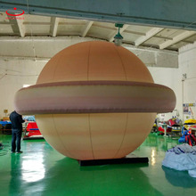 LED lighting inflatable PVC self floating planet helium balloon