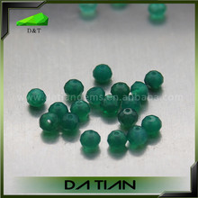 Hot sale high quality polished beads 2~5mm green agate from China